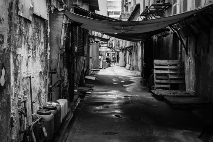 香港の路地裏