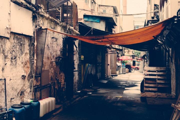 香港 街 路地裏