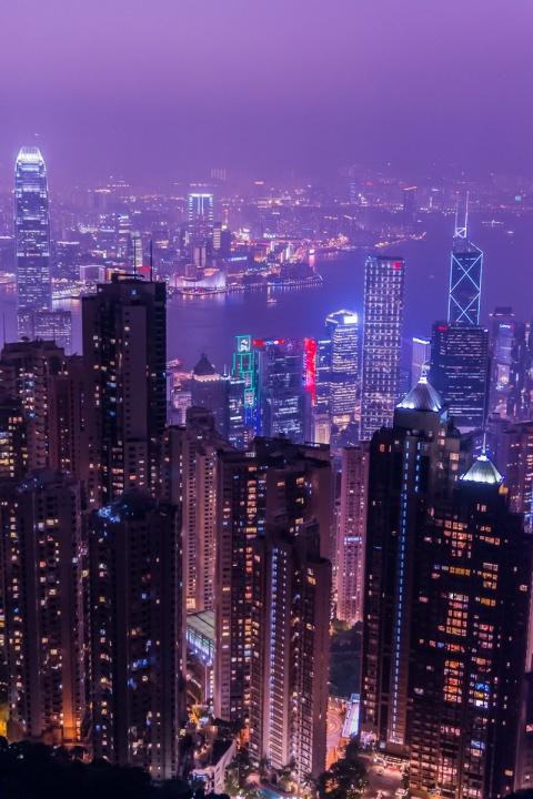 香港ビクトリアピークからの夜景