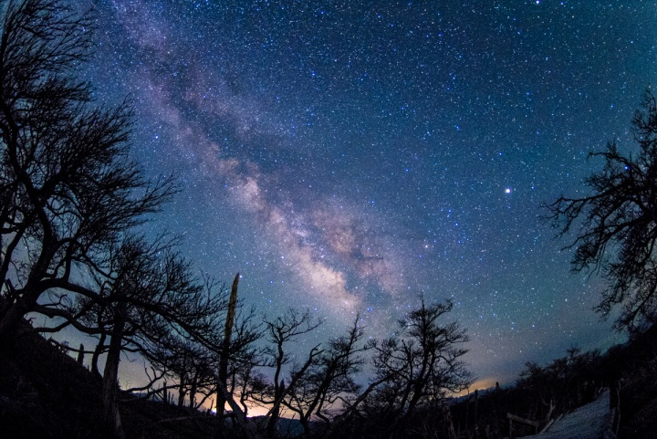 大台ケ原から観測する天の川