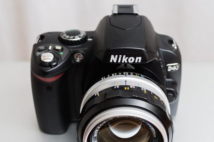 NikonD40 外観(前面TOP)