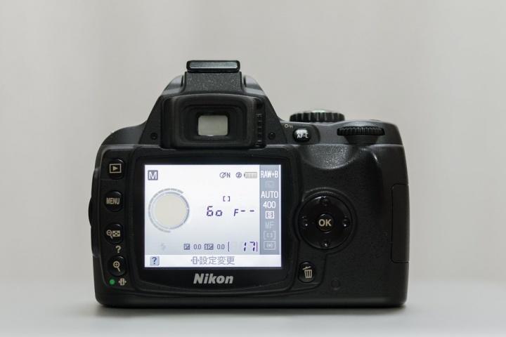 NikonD40 外観(背面)