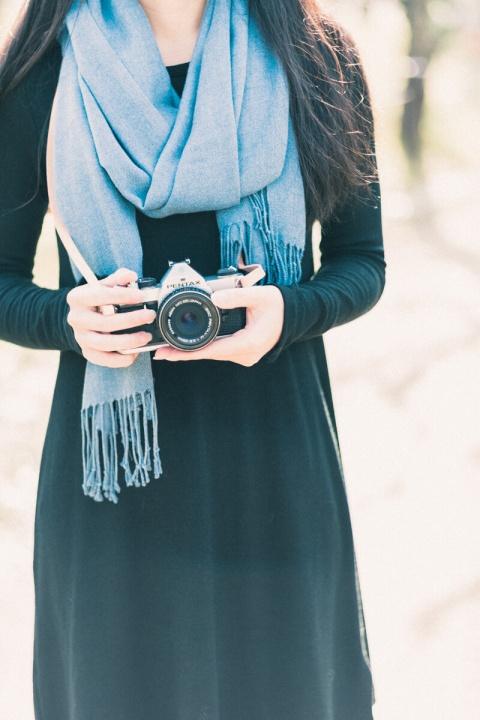 大阪城公園の梅林 カメラ女子