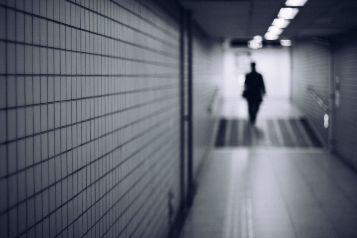 モノクロスナップ写真 モノクロスナップ写真 地下鉄